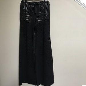 TWENTY MONTREAL black lace Wide Leg pant L Tall